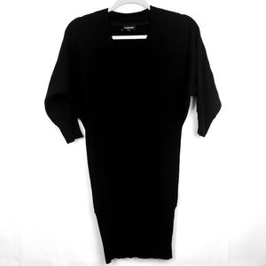 Bebe Women's knit cashmere black dress Size XS